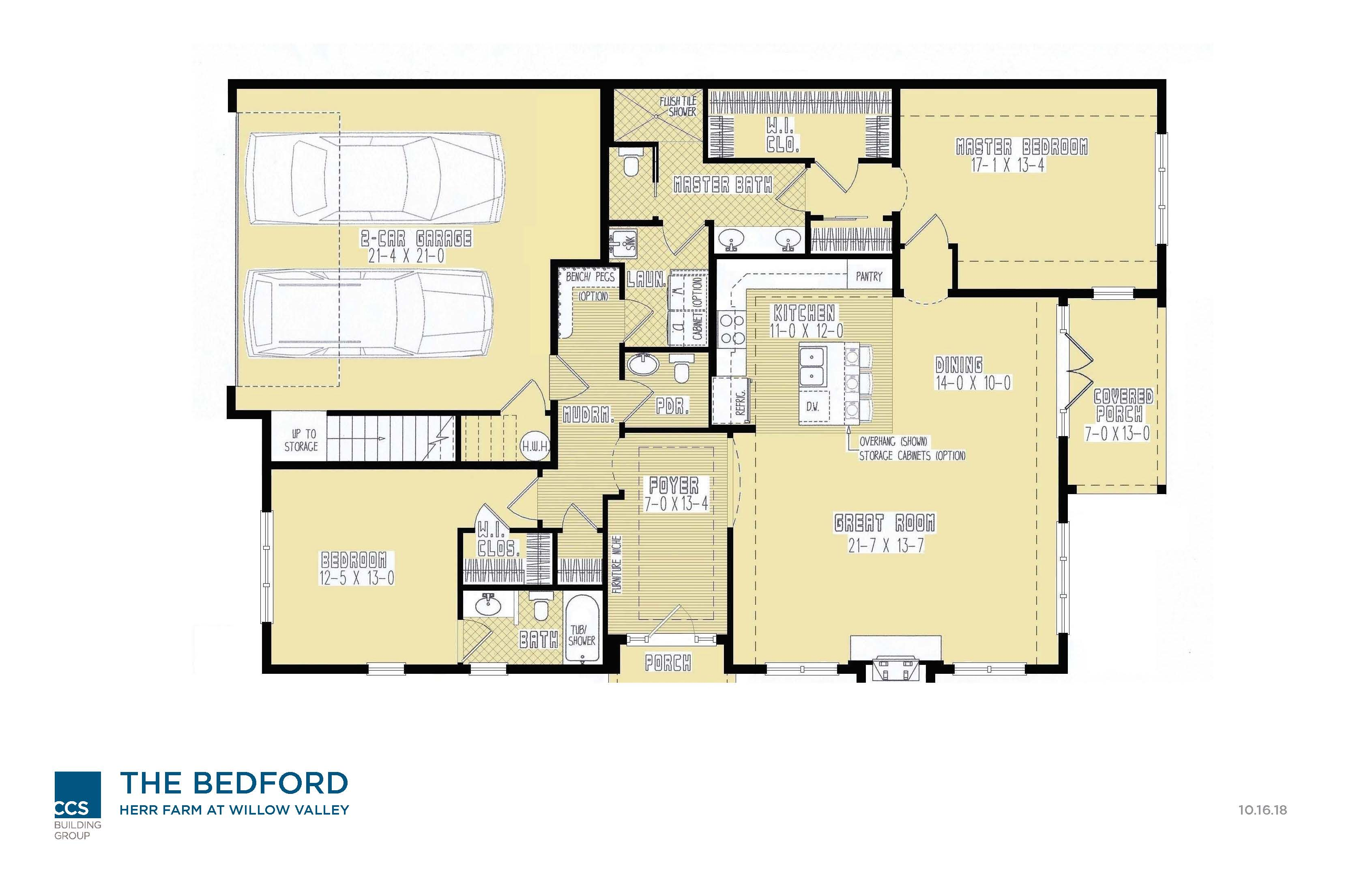 Villa Floor Plan - The Bedford